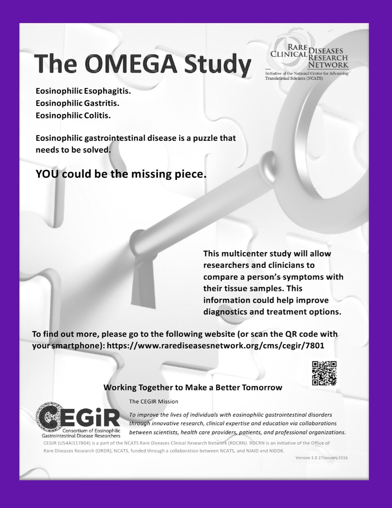 OMEGA Recruitment flyer on background Sep2016