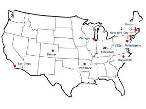 PCORI Locations Map 011817