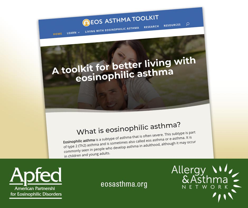 Eos asthma toolkit, visit eosasthma.org