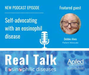 Podcast episode 003 - Self-advocating with an eosinophil disease